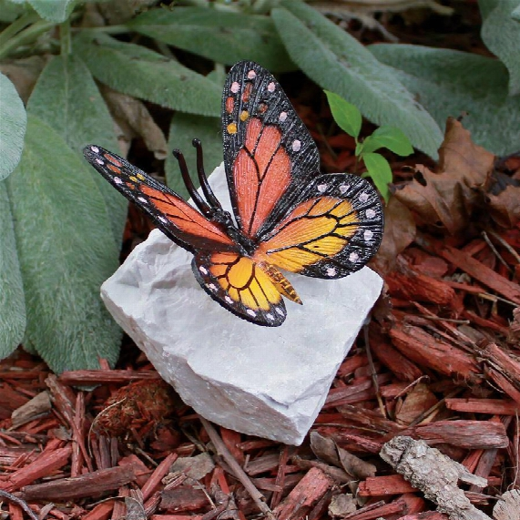 Monarch Butterfly Bronze Garden Sculpture