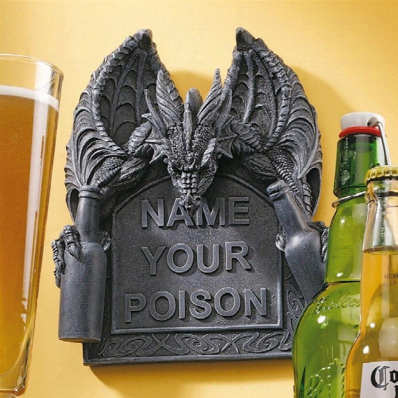 Name Your Poison Wall Plaque: Set Of Two