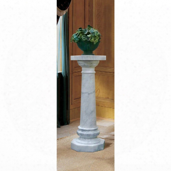 Opulent Versailles Natural Marble Column: White