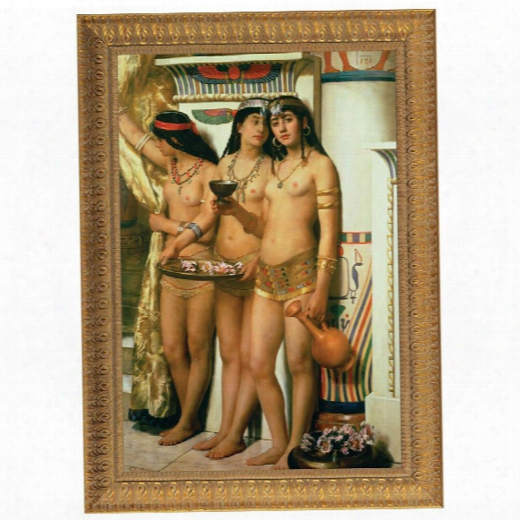 Pharaoh's Handmaidens, 1882 Canvas Replica Painting: Grande