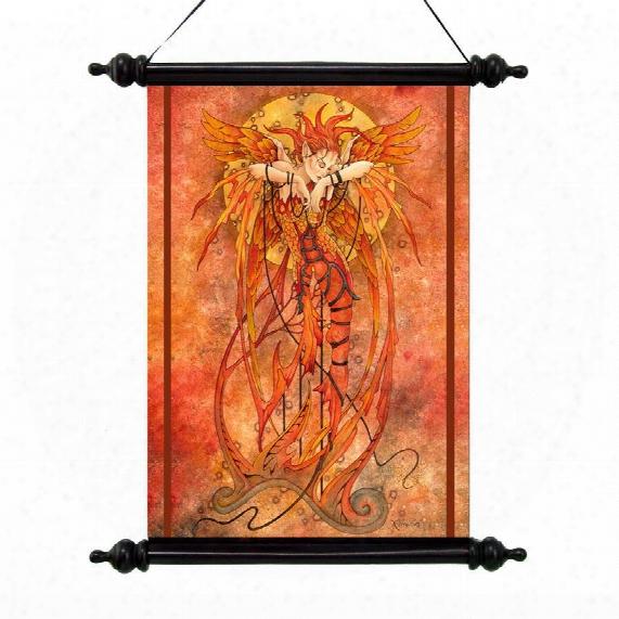 Phoenix Rising Canvas Wall Scroll
