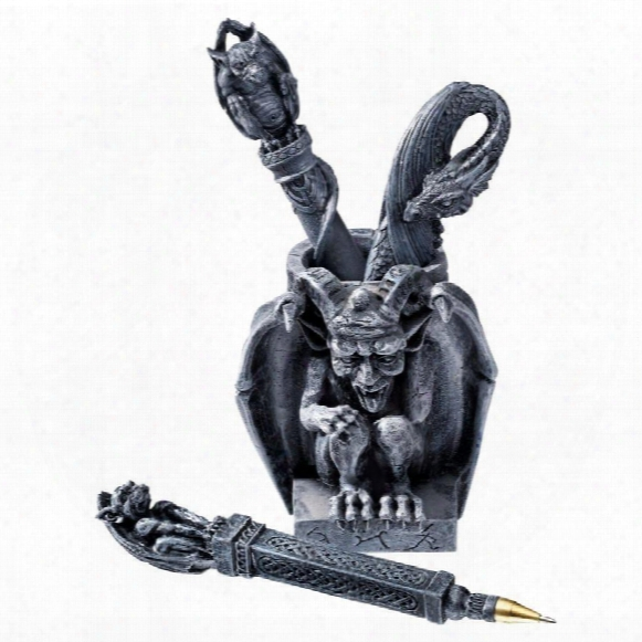 Poison Pen Gargoyle Desk Accessory
