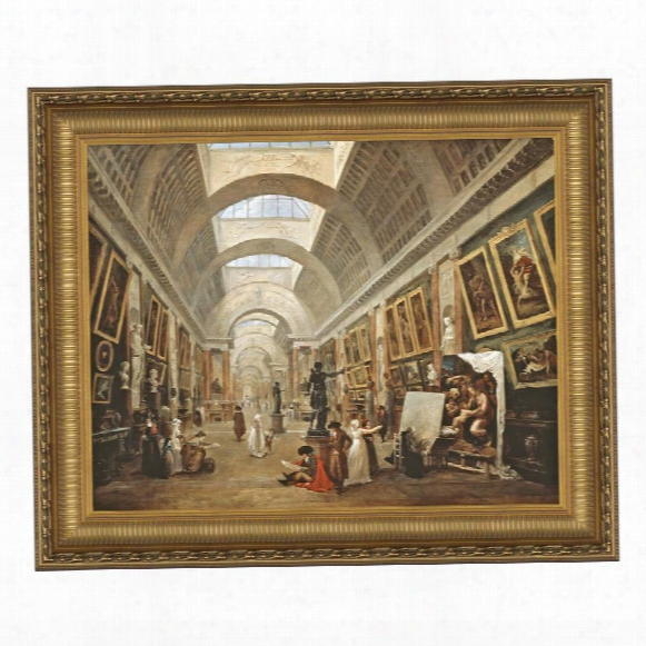 Project For The Disposition Of The Grand Gallery, 1796 Canvas Replica Painting: Grande