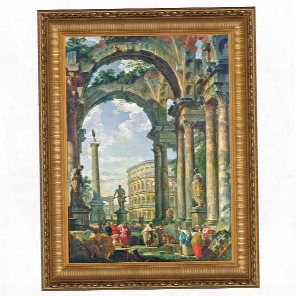 Roman Capriccio, 1735 Canvas Replica Painting: Grande