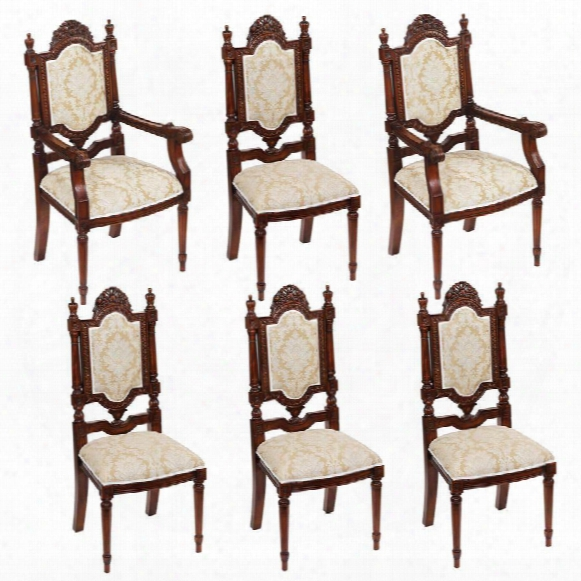Salon Des Rosiers: Set Of 2 Armchairs And 4 Side Chairs