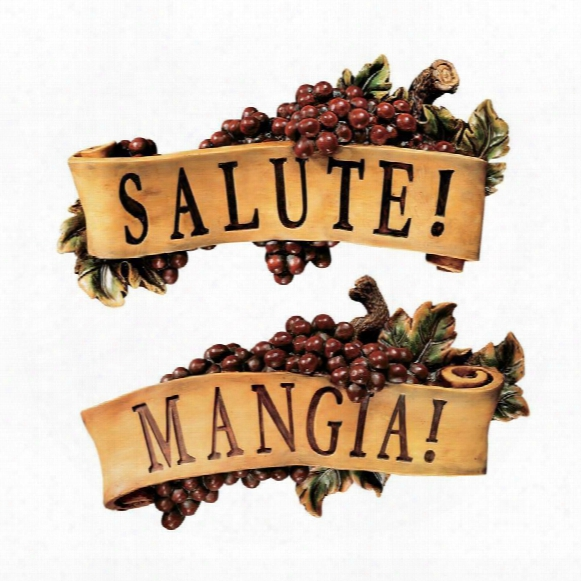 Salute And Mangia Wall Sculptures