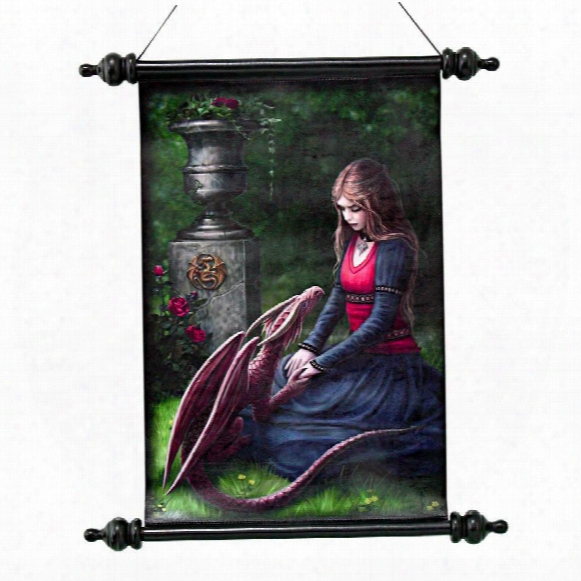 Secret Garden Canvas Wall Scroll By Artist Anne Stokes