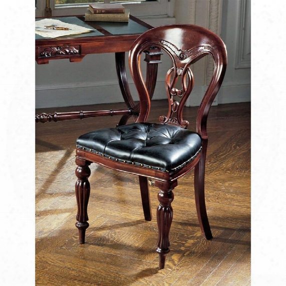 Simsbury Manor Leather Sidde Chair