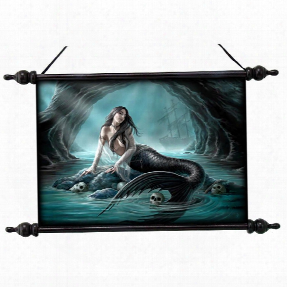 Sirens Lament Canvas Wall Scroll By Artist Anne Stokes