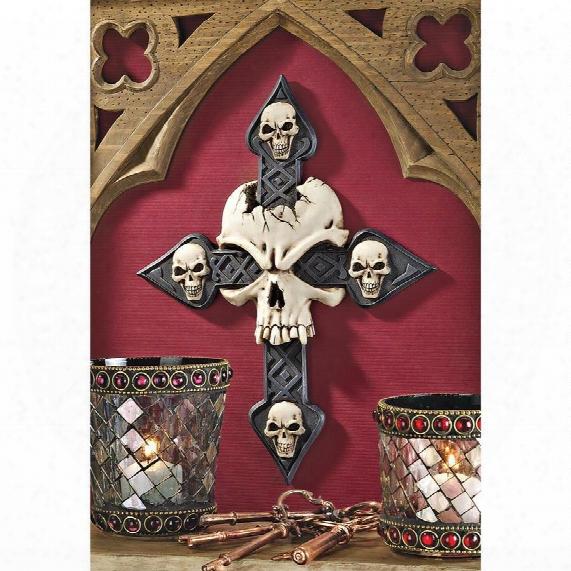 Spellbound Skull Cross Wall Engrave