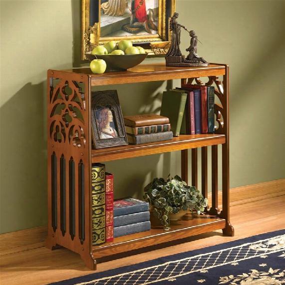 St. Thomas Aquinas Gothic Wooden Bookshelf