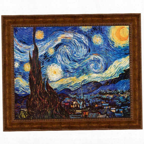 Starry Night, 1889 Canvas Replica Painting: Small