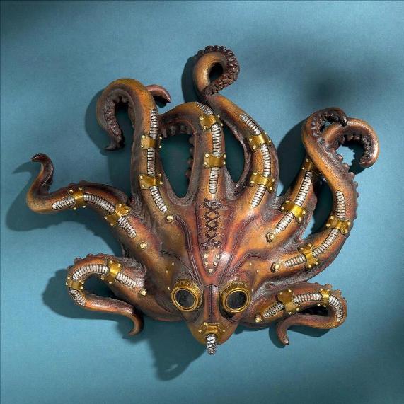 Steampunk Octopod Wall Sculpture