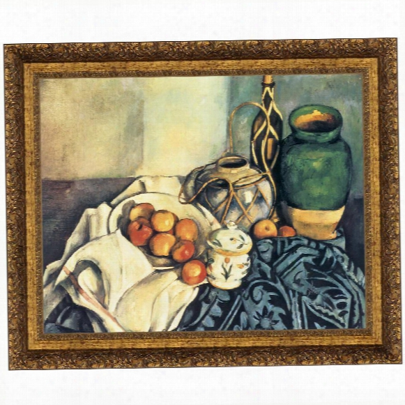 Still Life With Apples, 1894, Canvas Replica Painting: Small
