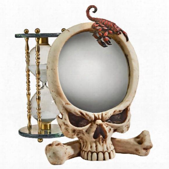 Sting Of The Scorpion Skull Mirror Statue