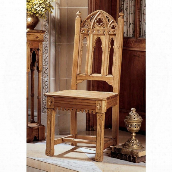 Sudbury Hand-carved Solid Pine Gothic Side Chair: Set Of Two
