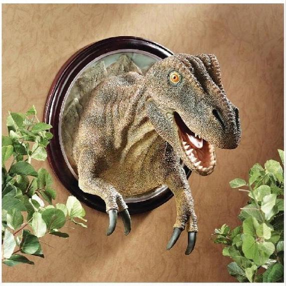 T-rex Dinosaur Trophy Wall Sculpture