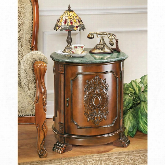 Tambour Manor Drum Accent Table