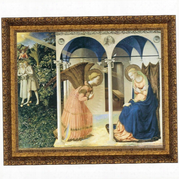 The Annunciation Altarpiece, 1426, Canvas Replica Painting: Small