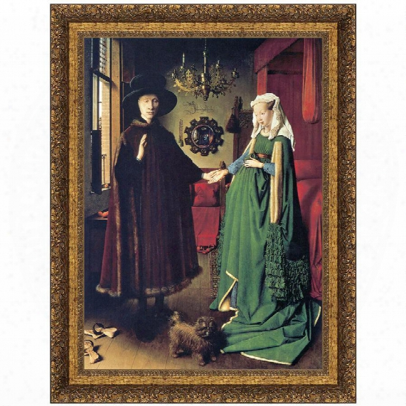 The Arnolfini Marriage, 1434, Canvas Replica Painting: Small