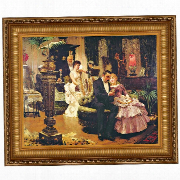 The Conversation Piece Canvas Replica Painting: Grande