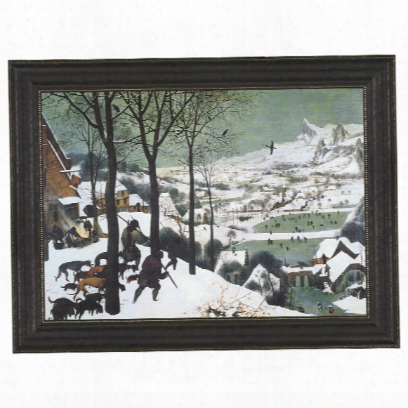 The Hunters In The Snow, 1565, Canvas Replica Painting: Large