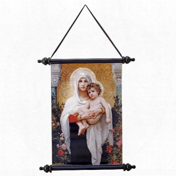 The Madonna Of The Roses (1903) Canvas Wall Scroll