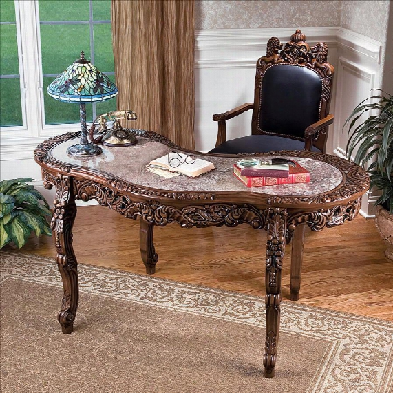 The Mountbatten Hardwood And Solid Marble Desk