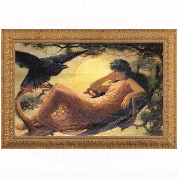 The Night Raven Sings Canvas Replica Painting: Grande
