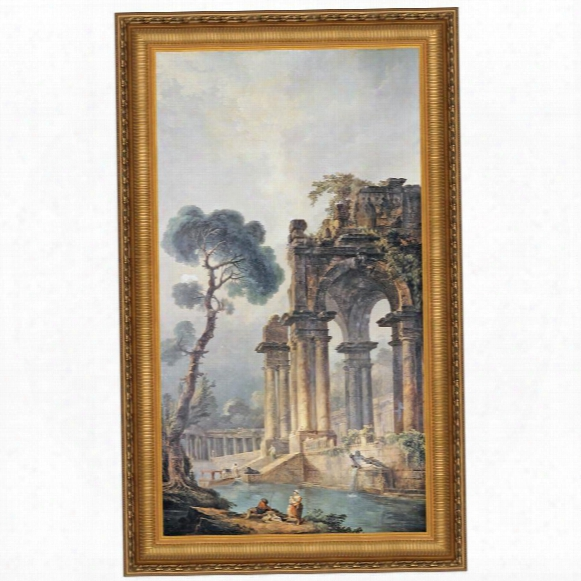 The Ruins Near The Water, 1779, Canvas Replica Painting: Large