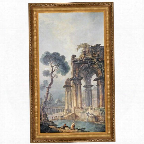 The Ruins Near The Water, 1779, Canvas Replica Painting: Small