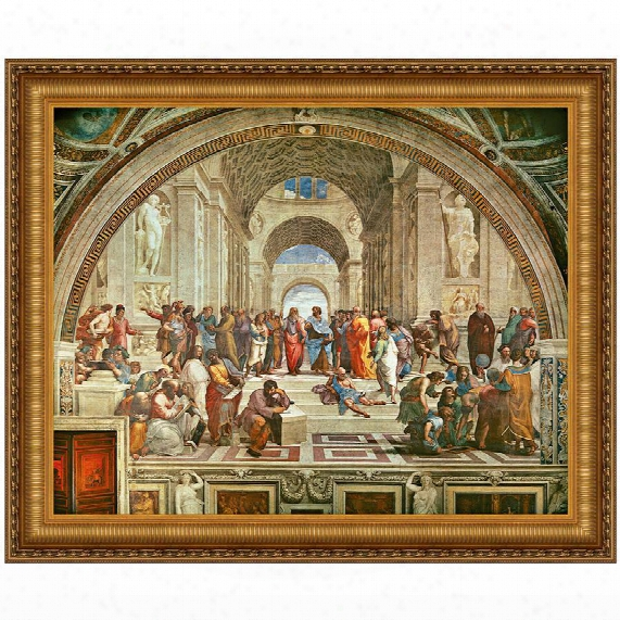 The School Of Athens, 1510, Canvas Replica Painting: Small