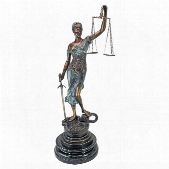 Themis, Blind Justice Cast Bronze Statue: Tabletop