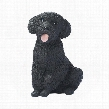 Black Poodle Puppy Dog Statue