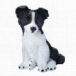 Border Collie Puppy Dog Statue