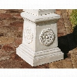English Rosette Garden Sculptural Plinth: Grand
