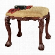 French Baroque Honey Upholstered Bench - Medium