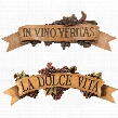 La Dolce Vita and In Vino Veritas Sculptural Wall Plaques