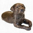 Labrador Puppy Dog Cast Bronze Garden Statue