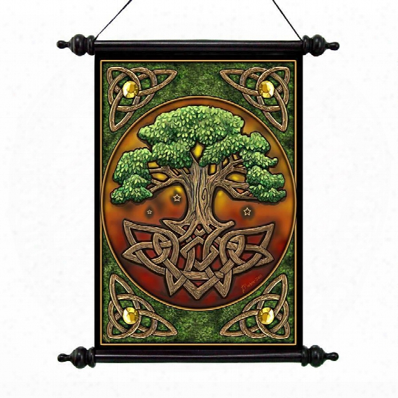Tree Of Life Canvas Wall Scroll By Artist Lisa Parker