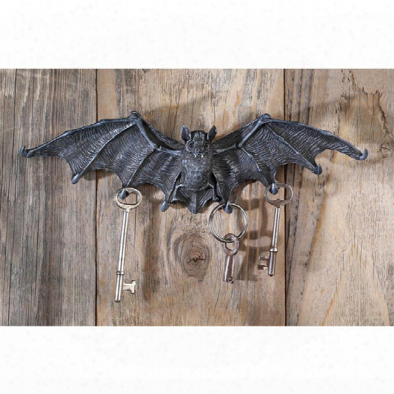 Vampire Bat Key Holder Wall Sculpture: Medium