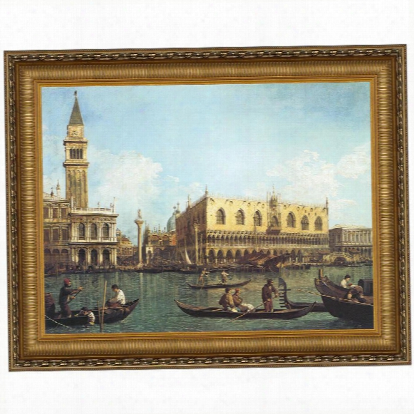 View Of The Bacino Di San Marco, St. Mark's Basin, 1730-35, Canvas Replica Painting: Small