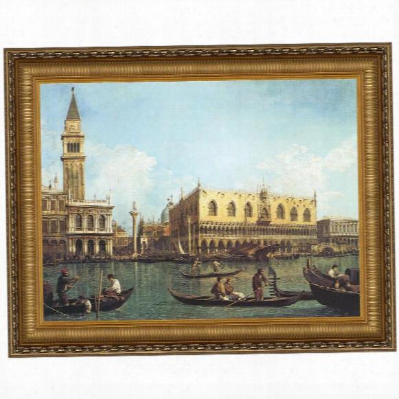 View Of The Bacino Di San Marco, St. Mark's Basin, 1730-35, Canvas Replica Painting: Grande