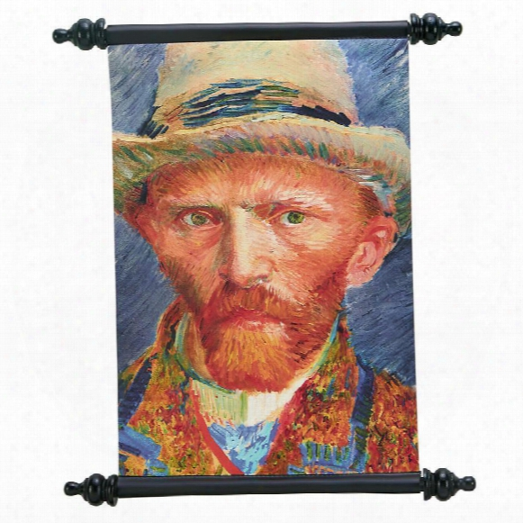 Vincent Van Gogh Self Portrait (1887) Canvas Wall Scroll