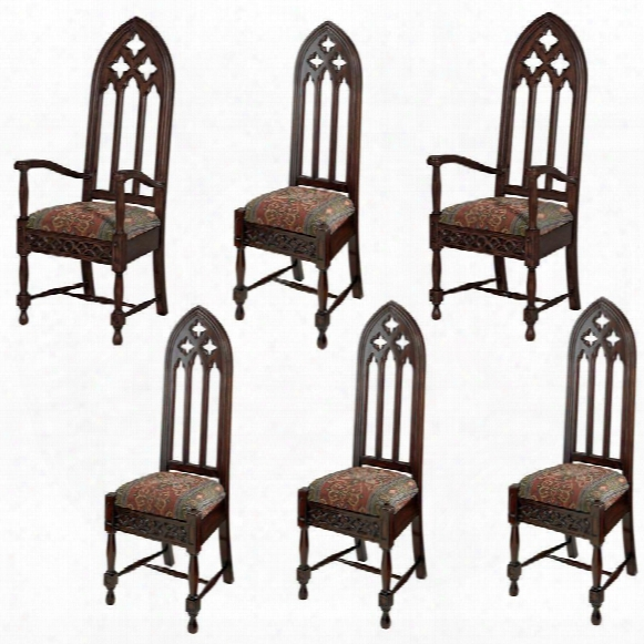 Viollet-le-duc Gothic Cathedral Chairs: Set