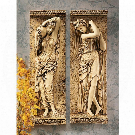 Water Maidens Wall Friezes: Set