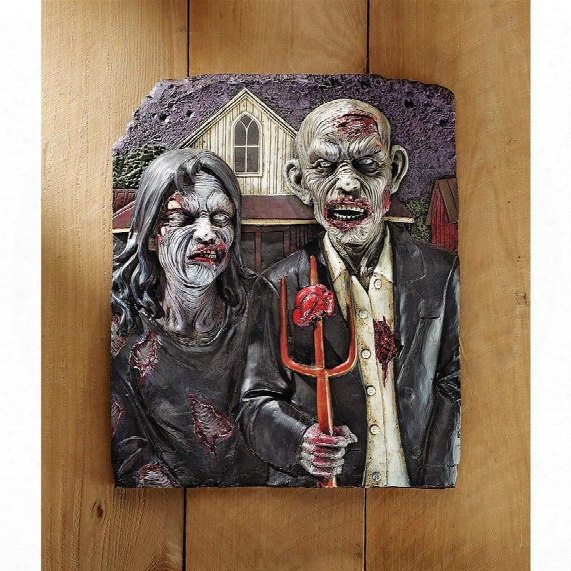 Zombie Gothic Wall Sculpture