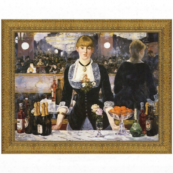 A Bar At The Folies-bergere, 1882, Canvas Replica Painting: Small