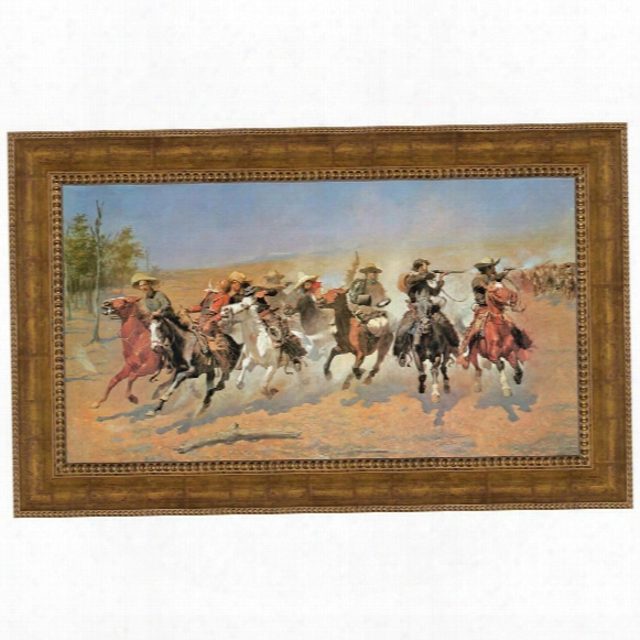 """A Dash For The Timber"""" (1889) By Frederic S. Remington, In A Private Collection:grande"""