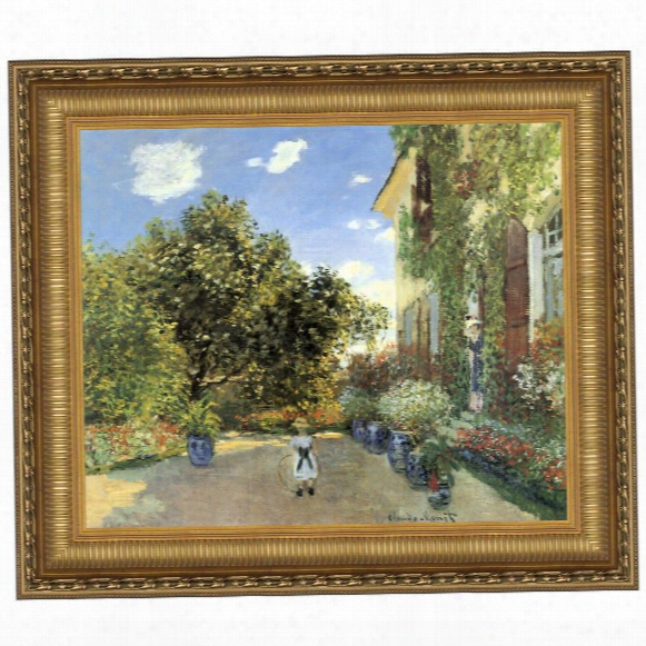Artist's House At Argenteuil, 1873: Canvas Replica Painting: Grande
